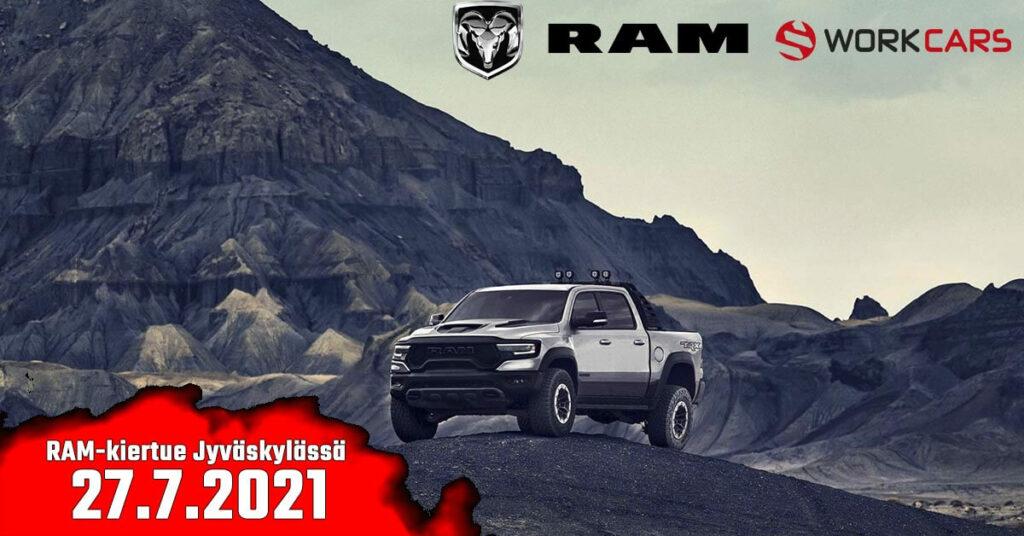 RAM-kiertue saapuu Work Carsille 27.7.21
